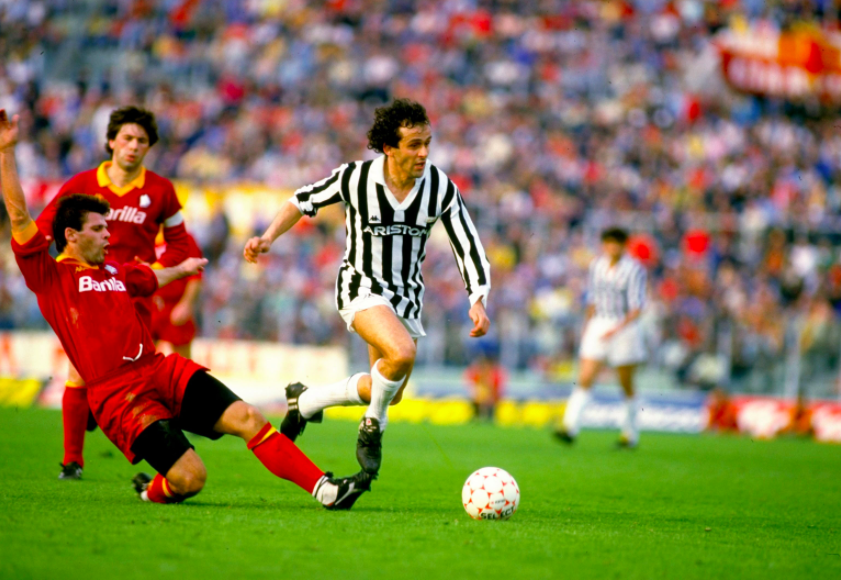AS Roma-Juventus Michel Platini