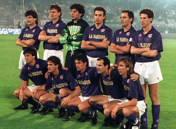 Fiorentina joukkue Uefa Cupin finaalissa